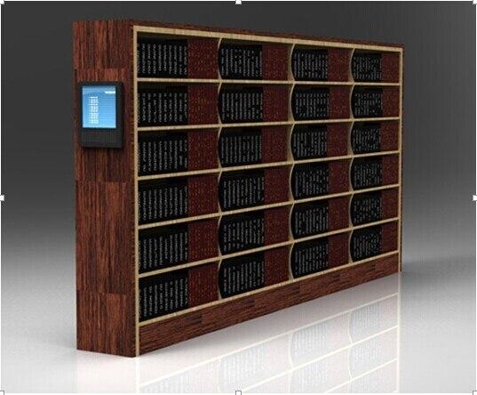 rfid smart library bookshelves - Metal Library Bookshelves