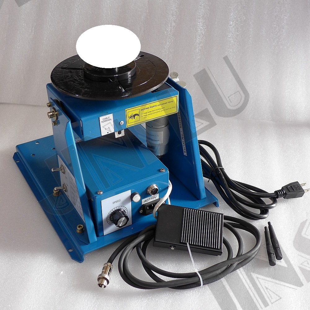 """Rotary Welding Positioner Turntable Table 2.5/"""" 3 Jaw Lathe Chuck 2-20RPM 10KG US"""