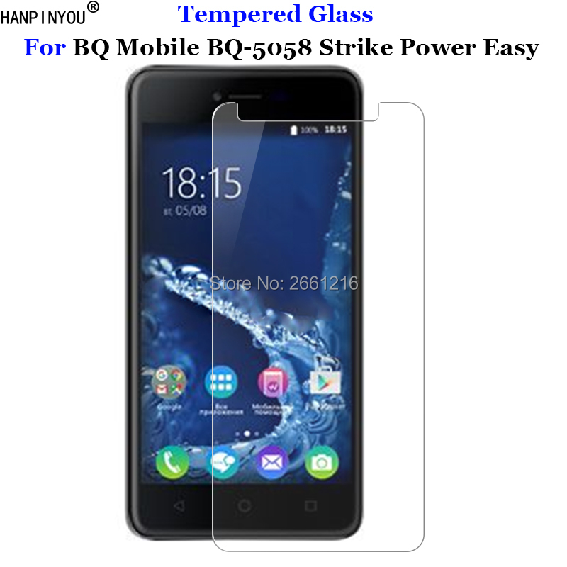 For BQ BQS 5058 Tempered Glass 9H 2.5D Premium Screen Protector Film For BQ Mobile BQ-5058 Strike Power Easy / SE 5.0""