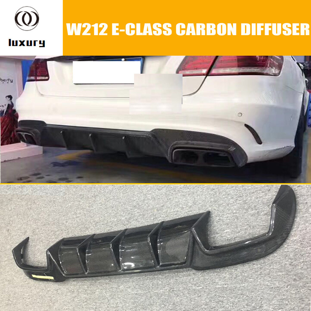 W212 B Stile Fibra di Carbonio Paraurti Posteriore Diffusore Spoiler per Benz W212 Facelift E200 E300 Amg con Package & E63 2014 2015 2016