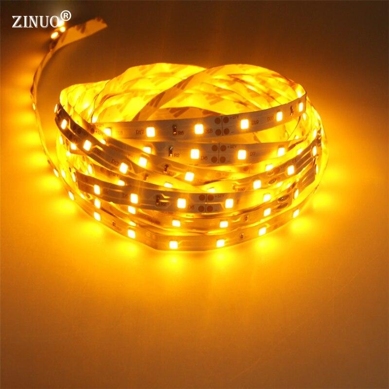 ZINUO5M LED Strip light 2835 RGB Flexible LED Tape Ribbon High Luminous More than 3528 3014 Led Strip Lower Price than 5050 5630