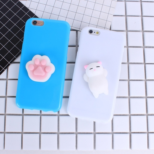 b69e0d20612049 Cute Squishy Phone Case For iphone se 5s 5 6s 6 7 8 Plus 3D Lovely Animal Cat  Paw Soft Silicone TPU Back Cover For iphone 7 8