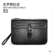 gete 2019 New hand-stitched Nile crocodile belly handbag for men large capacity horizontal style hand bag envelope clutch