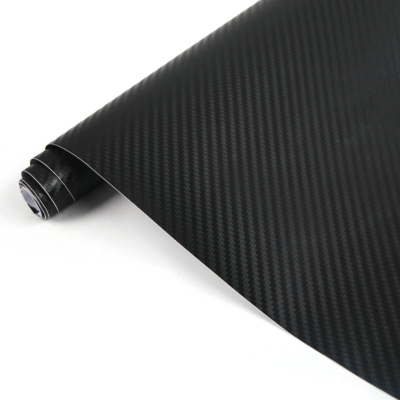 High quality 1270mmx300mm waterproof 3d carbon fibre vinyl sheet wrap sticker film paper decal black l014155