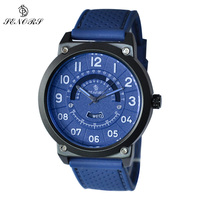 SENORS Vintage Men Wristwatch Male Clock Day Date Waterproof Canvas With Silicone Strap Quartz Watches Role Fashion
