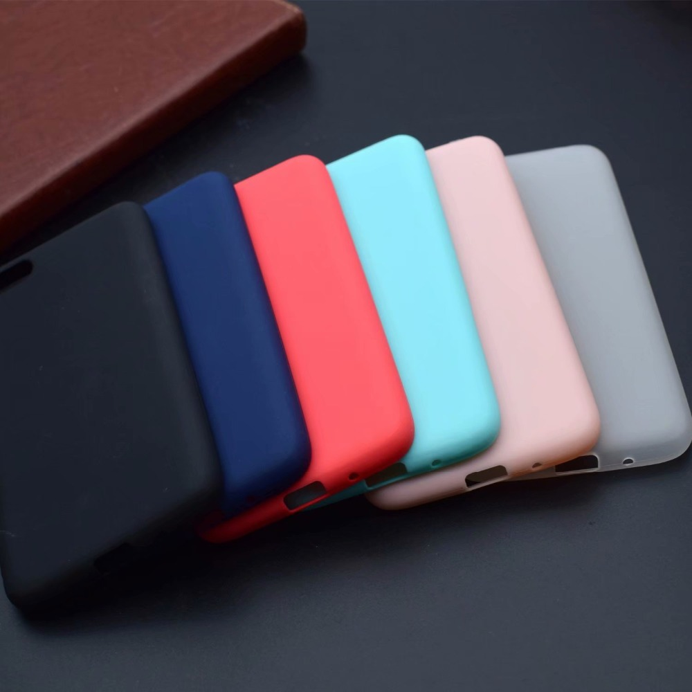 For Coque Apple iPhone X 8 7 6 6S Plus SE Case Cover Candy Color For iPhone SE 5SE Silicone TPU Case For Samsung S8 S9 Plus Etui