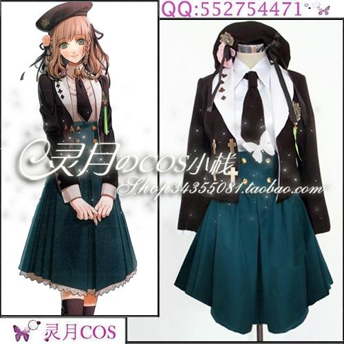 Japanese Anime Amnesia Heroine Uniform Cosplay Costume