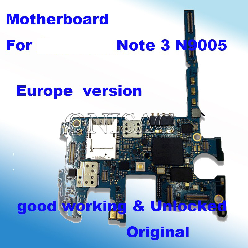 imágenes para 100% abierto Original para Samsung galaxy nota 3 n9005 motherboard Placa Lógica mainboard versión de LA UE con chips