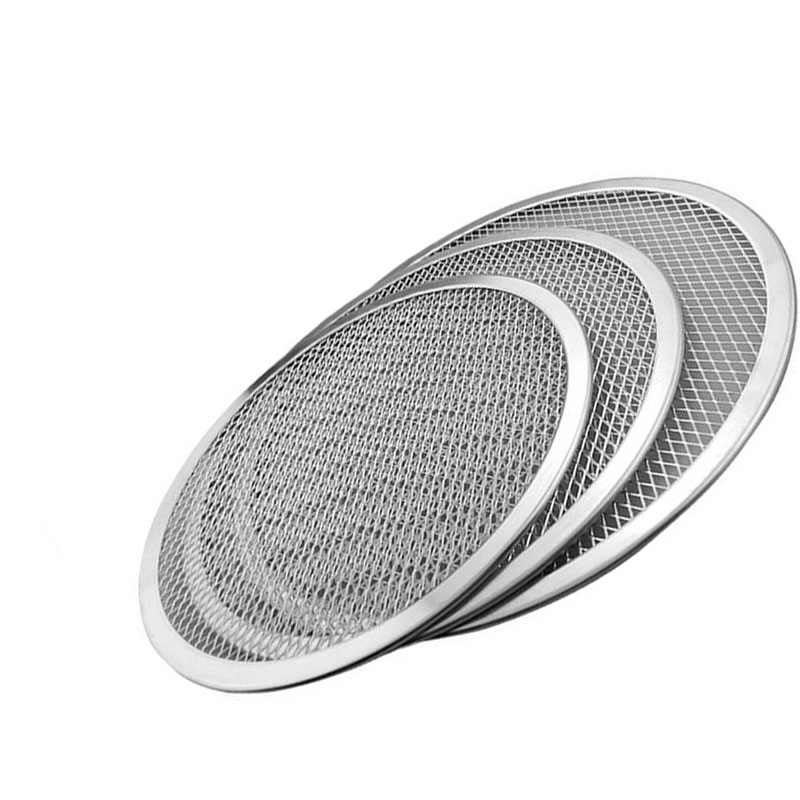 New   Circle Aluminum Mesh Pizza Baking Tray Plate Bakeware Kitchen Tool Accessories