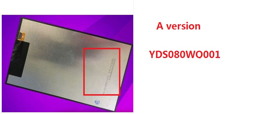 Two versions A OR B 8 inch For Dexp Ursus NS280 LCD Display Tablet Pc