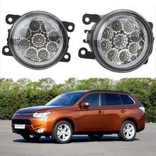 6000K CCC 12V car-styling DRL Fog Lamps lighting LED Lights For Mitsubishi L200 OUTLANDER 2 PAJERO 4 GALANT Grandis 9W /1 SET цены