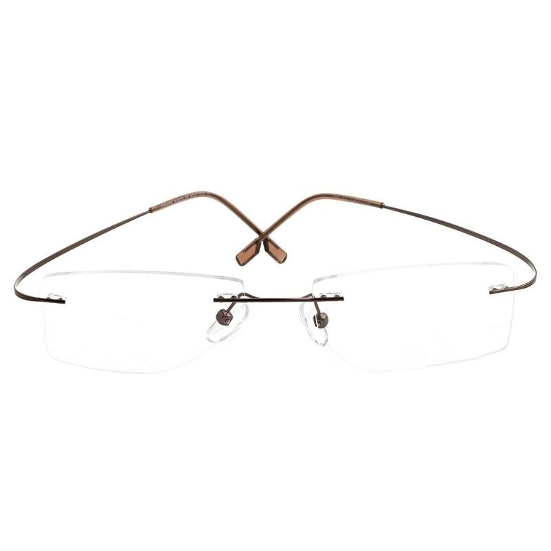 Fashion Metal Rimless Eye Glasses Eyeglasses Frame Spectacle Frames