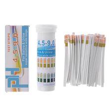 150 полосок в бутылках PH Тест-бумага диапазон PH 4,5-9,0 для мочи и слюны индикатор