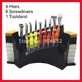 DH08HC Optical Repair Tools Stand Eyeglasses Glasses Tool Kit Set 9pcs pliers and 6 screwdrivers