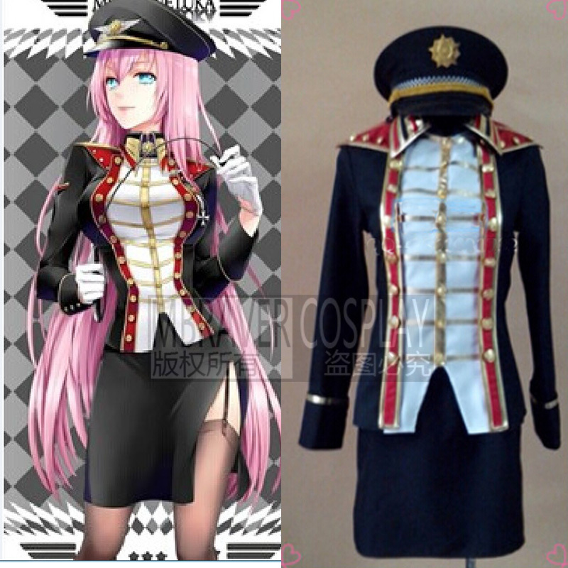 VOCALOID Megurine Luka army uniform Cosplay Costume