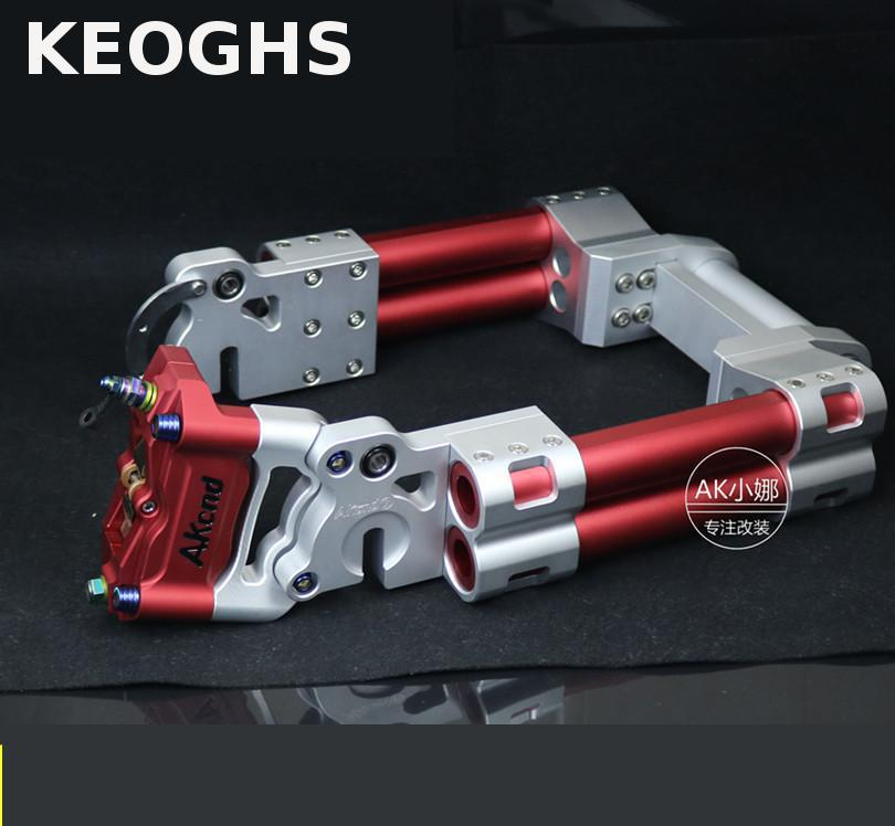 KEOGHS Motorcycle Rear Swing Arm/flat Fork Cnc Aluminum Alloy With Bracket For Honda Yamaha Scooter Dirt Pit Bike Modify keoghs motorcycle rear hydraulic disc brake set for yamaha scooter dirt bike modify 220mm 260mm floating disc with bracket