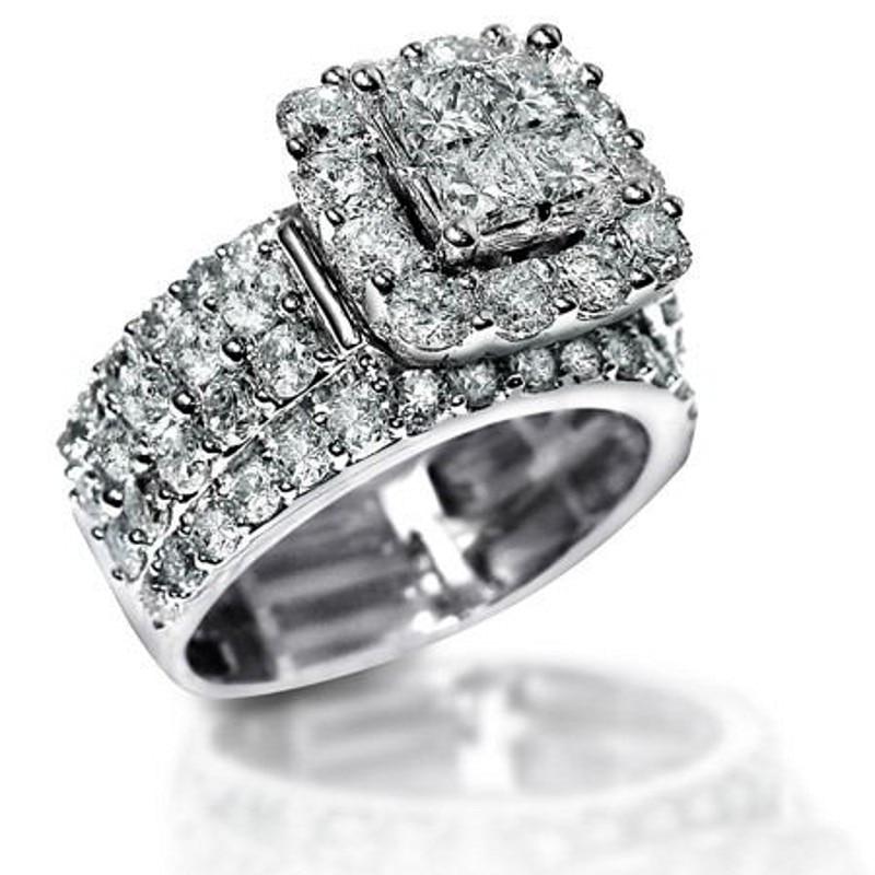 Choucong Echtes 925 Sterling Silber Hochzeit Ringe Für Frauen White & Rosa Aaaaa Zirkonia Verlobungsring Brautschmuck 100% Original Hochzeits- & Verlobungs-schmuck