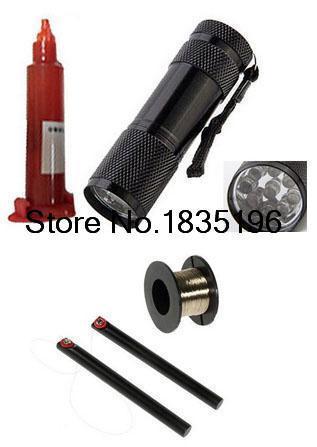 LCD Separador Ferramenta Handle Bar com 100 m Fio de Ouro Fio Linha de corte + Cola UV e Luz UV LCD Reparação Substituição da Tela Kit