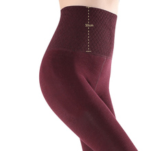 Feilibin Winter Women Leggings Warm Pants 10CM High Waist Thicken High Elastic Women's Warm Thermal Slimming Thick Thermos Pants