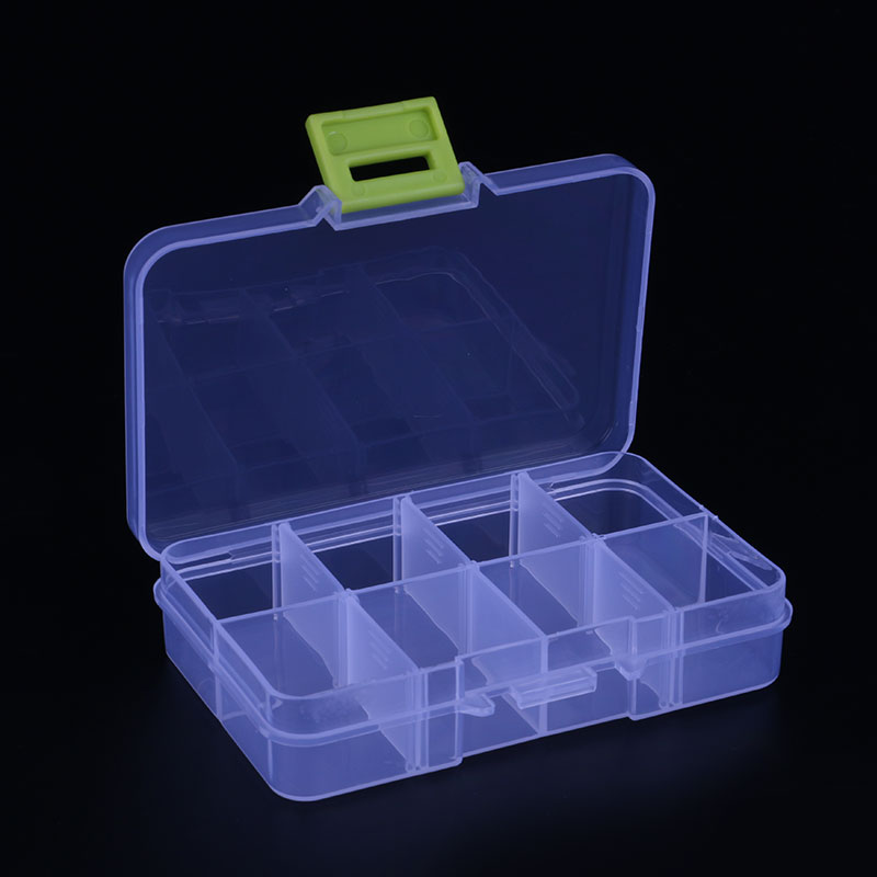 8 Slots Cells Portable Jewelry Tool Box Storage Box Container Ring Electronic Parts Screw Beads Organizer Plastic Case Toolbox