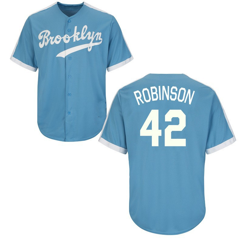aac5adf9a Throwback 34 Fernando Valenzuela 42 Jackie Robinson Cooperstown Cool Base Baseball  Jersey Brooklyn Dodgers Jersey stitched S-4XL