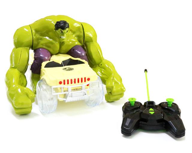 El Vehículo de Juguete Avengers Hulk Smash flash RC sonido Rompe, gira, gira coche modelo pasan por obstáculos niños juguetes para niños de regalos