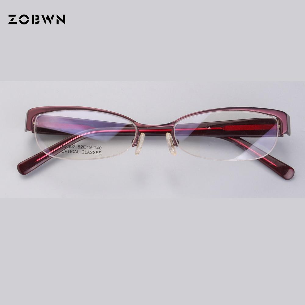 b4a4175874b Aliexpress.com   Buy Classic half rim Eyeglasses women Frame Men Computer Optical  Eye Glasses Spectacle Frame For Male Transparent Lens super thin from ...
