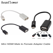 Mini HDMI Male To Female Adapter Micro USB To USB Cable OTG