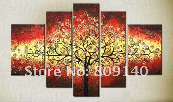 Abstract Fortune Tree Landscape oil painting canvas ...