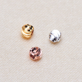 Spacer beads ball 3MM Metal Round Loose beads for Jewelry bracelet making DIY accessories Findings image