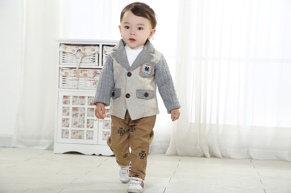 ФОТО Anlencool Free shipping Children's new suit The new  Spring Valley posture infants small piece suit gentleman baby boy clothing