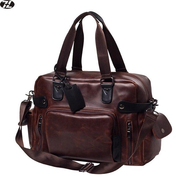 Carzy лошадь кожа мужчины дорожная сумка высокого качества вещевой мешок старинных большие мужчины сумка почтальона сумочки повседневная мужчины crossbody сумка