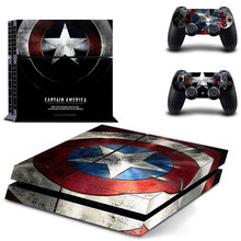 Captain America Skin Sticker Cover for Sony PS4 PlayStation 4 and 2 controller skins