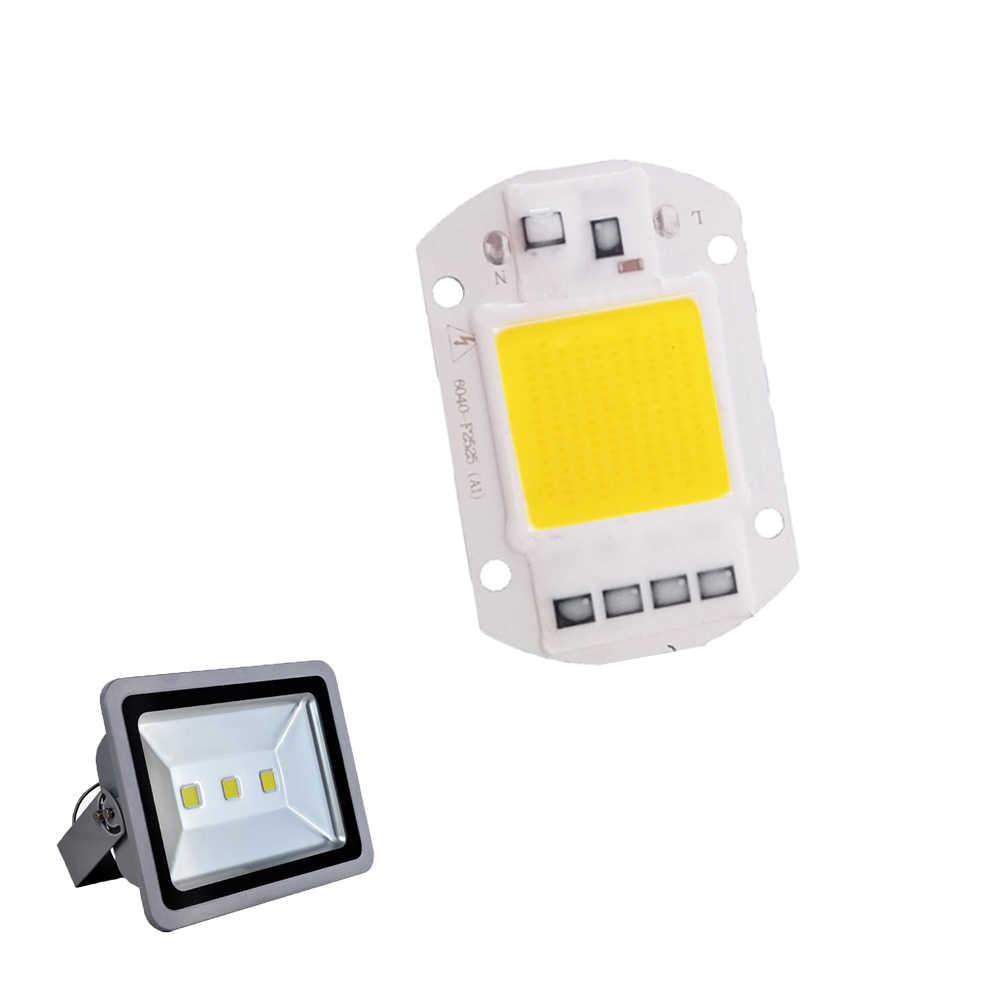 Led 램프 칩 통합 cob 5 w 20 w 30 w 50 w 220 v 240 v 스마트 ic 드라이버 차가운 따뜻한 흰색 led 스포트 라이트 투광 조명 성장 성장