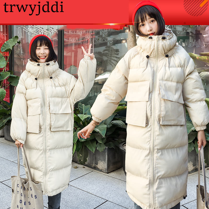 Oversized   Parka   Coat Harajuku Winter Jacket Quilted Women Hood Long Plus Size Female Warm 2018 Lady Clothes Outerwear N133