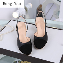 Woman Sandals Shoes 2019 Summer Style Shallow Wedges Pumps H