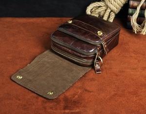 "Image 5 - Quality Original Leather Male Casual Shoulder Messenger bag Cowhide Fashion Cross body Bag 8"" Pad Tote Mochila Satchel bag 144 r"