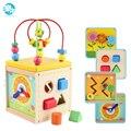 Bebê brinquedos de madeira para crianças de Madeira Clássico Bloco de Multi Forma Sorter para Crianças juguetes Presente caixa Multifunções