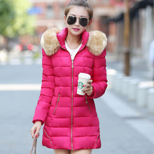2016 New Fashion Women Ladies Long Down Jacket Thicken Warm Winter Hoodies Hoody Slim Solid Down Coat Parkas Outwear Coat Q1793