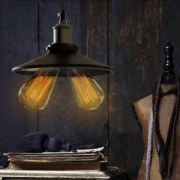 E27 Bulb Pendant Light Copper Metal Restaurant Pendant Light 2Head pendant lights Vintage Wall Lamp American Style drop shipping pendant light living room lamps restaurant lamp american style copper brief pendant light