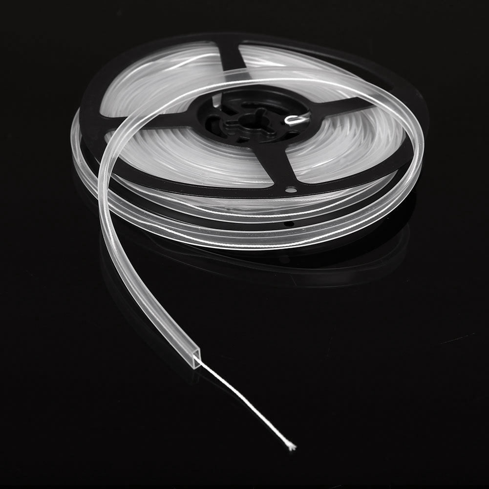 5M Soft Silicon Waterproof Tubing Rope Tube With Disc For 5mm LED Strip Light