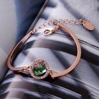 Ba Rõ Ràng Hoa Rose Gold Colour Bracelet Trang Sức Made với Chính Hãng Áo Crystals S