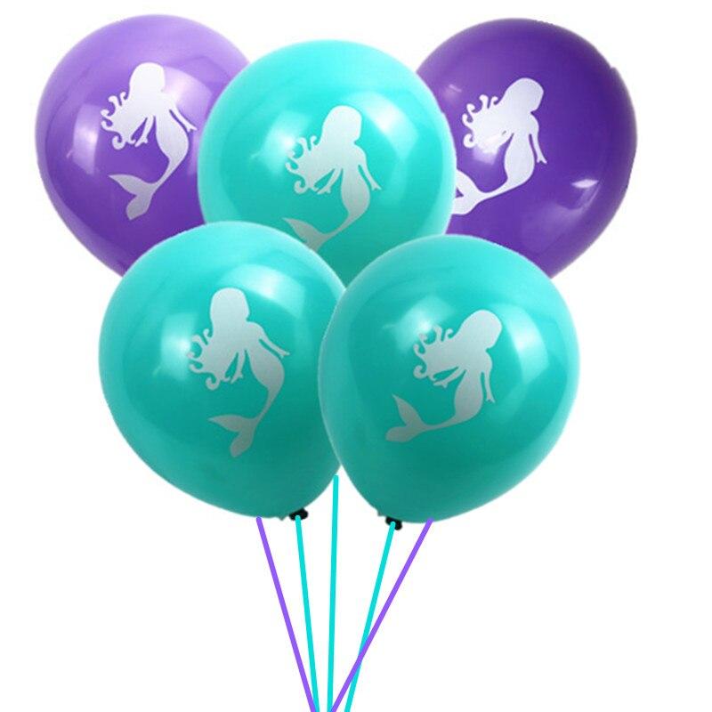 Эй Забавный 10 шт. латекс Шарики День рождения Декор Русалка тема вечерние шар для душа ребенка Свадебная вечеринка поставки