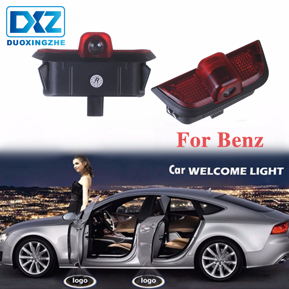 Car Door LED Logo Light For Mercedes Benz W204 C230 C260 C280 C300 C200 2pcs LED Projection Logo Ghost Shadow Car Door Welcome Light 3d Light