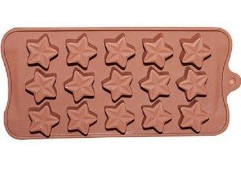 15 estrella de cinco puntas de silicona molde para hornear pasteles moldes de jabón hechos a mano galletas de chocolate cubo de hielo bandeja bricolaje molde