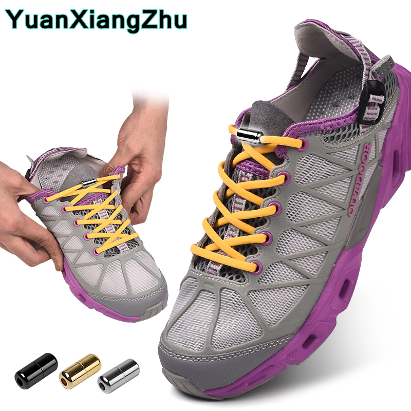 New Semicircle Shoelaces Sneakers No Tie Shoelace Quick Elastic Locking Shoe Laces Kids Adult Women Men Shoes Lace Strings