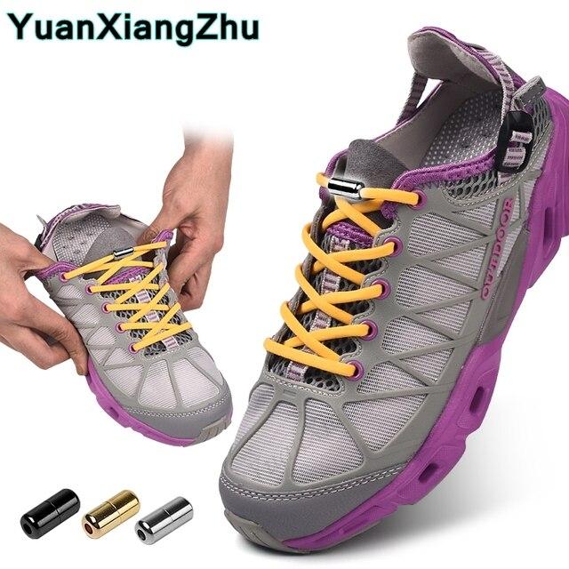 fc0600849 New Semicircle Shoelaces Sneakers No Tie Shoelace Quick Elastic Locking  Shoe laces Kids Adult Women Men Shoes lace Strings
