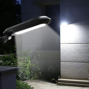LAIDEYI Solar Power Outdoor Human Sensing LED Street Light Waterproof Landscape Garden Wall Pathway Lamp LED Outdoor Lighting Street Lights    -