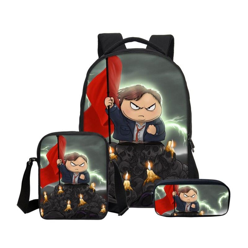 VEEVANV Cartoon Anime South Park Prints Backpacks Pencil Bag 3Pcs/Set Portfolio School Bag For Boys Girls Teenage Children Bags veevanv hot cartoon anime roblox backpacks school bag for teenage boys children kids bagpack mochila men bookbag casual laptop
