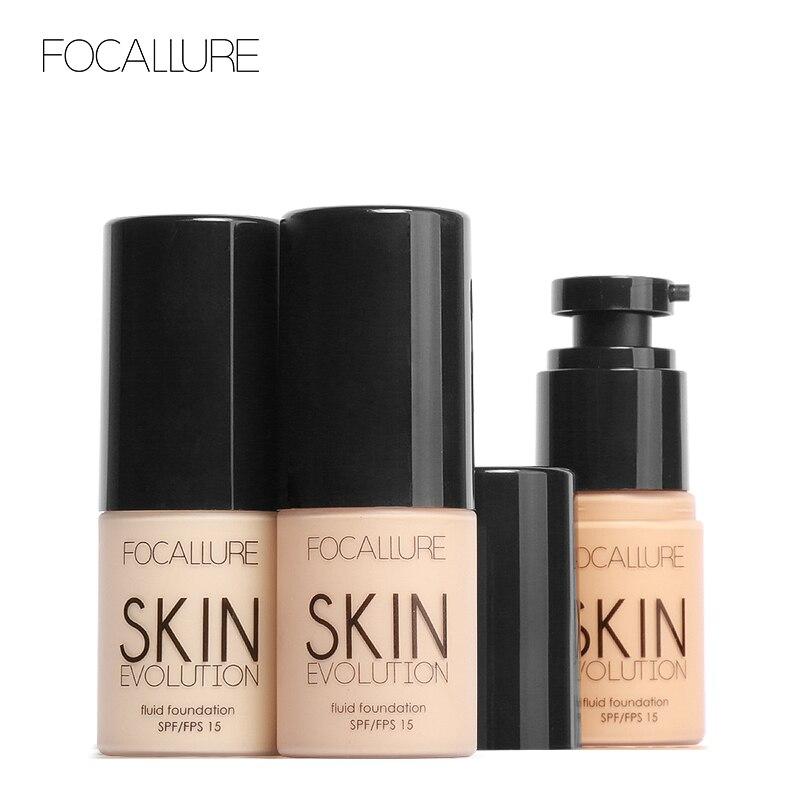 FOCALLURE Visage Base de Maquillage Visage Liquide Fondation BB Crème Fondation Concealer Primer Facile à Porter de Transport Souple